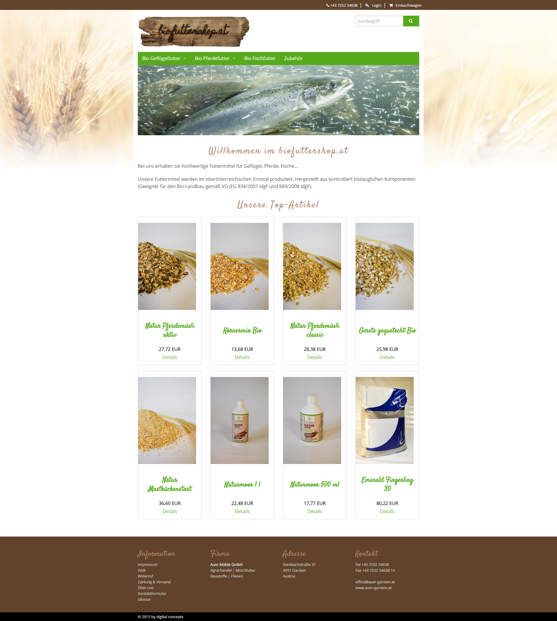 Screenshot Biofuttershop 2