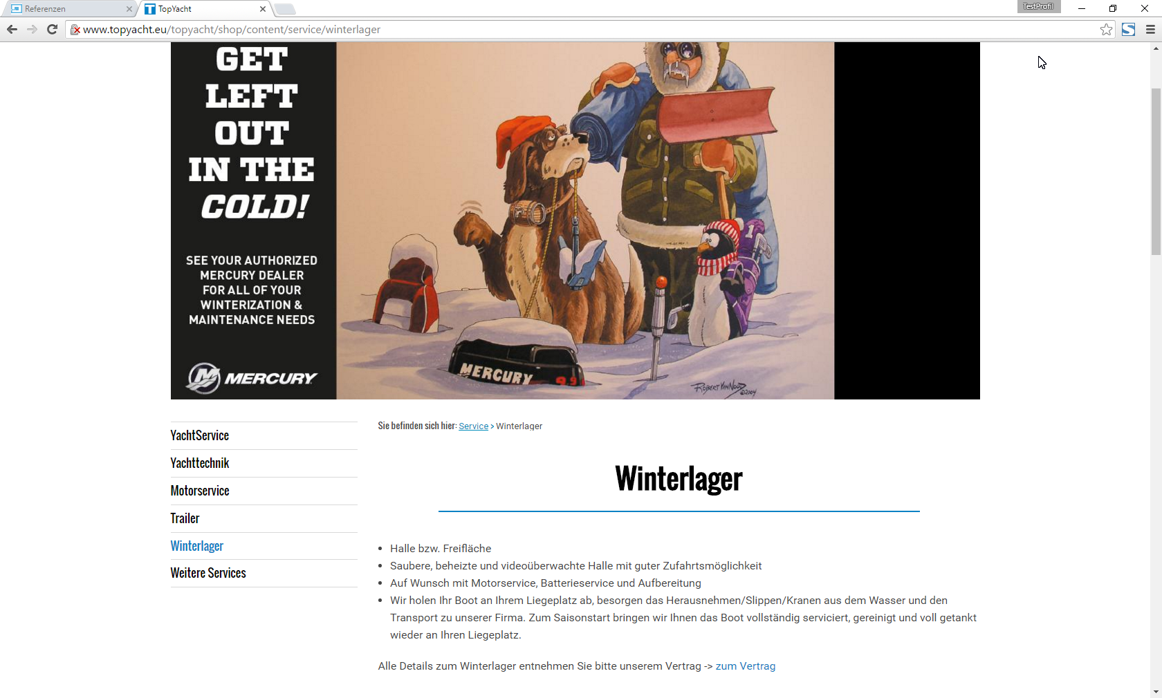 Screenshot TopYacht Winterlager