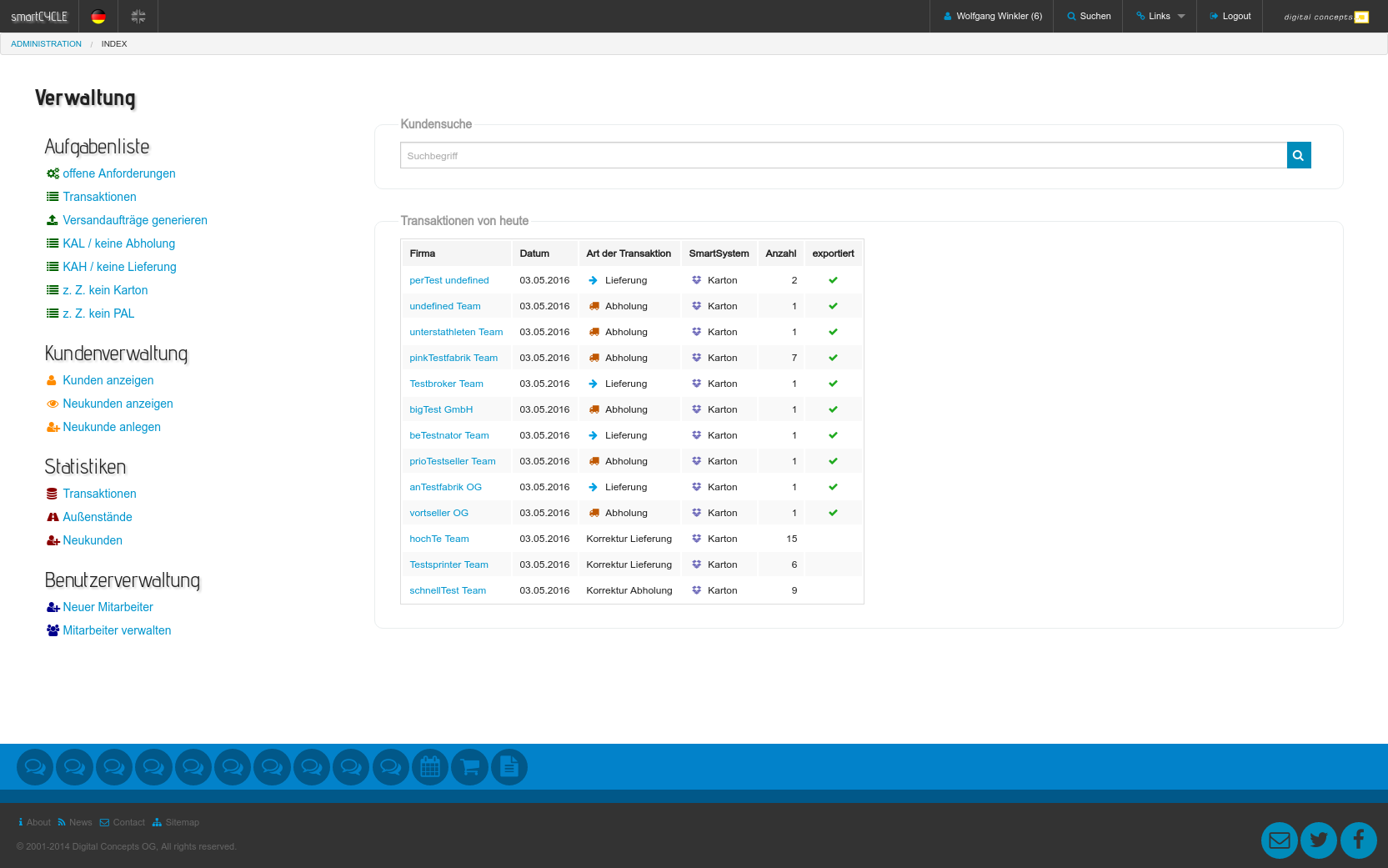 Screenshot SmartCycle Backend 1