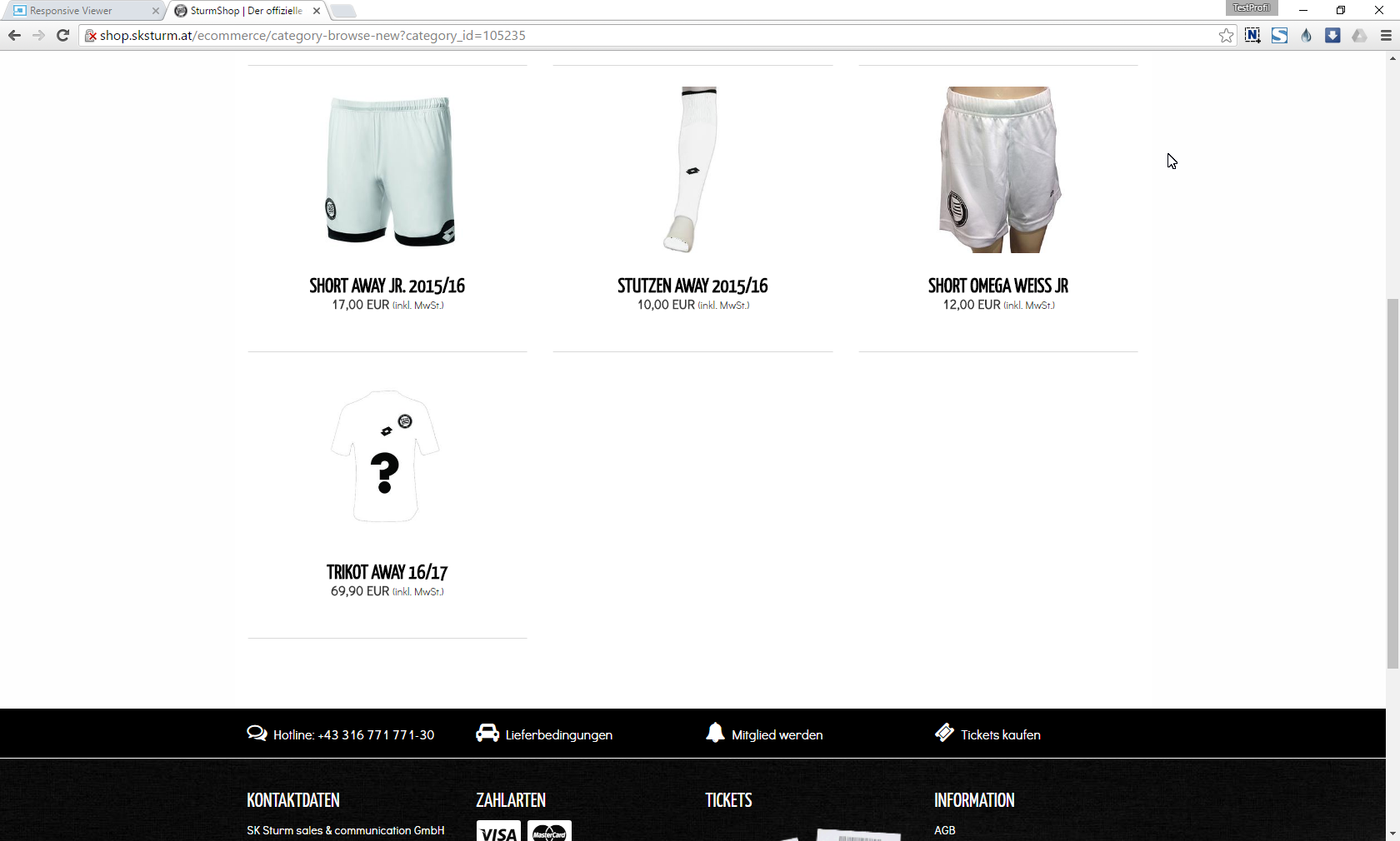 Screenshot SturmShop Kategorie 2